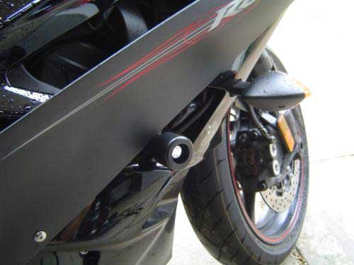 Yamaha R6 2006 no-cut frame sliders-right side shown